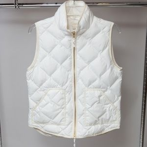 J. Crew White Quilted puffer vest Size Small